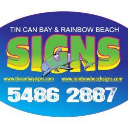 Tin Can Bay & Rainbow Beach Signs