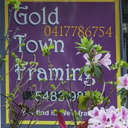 Gold Town Framing